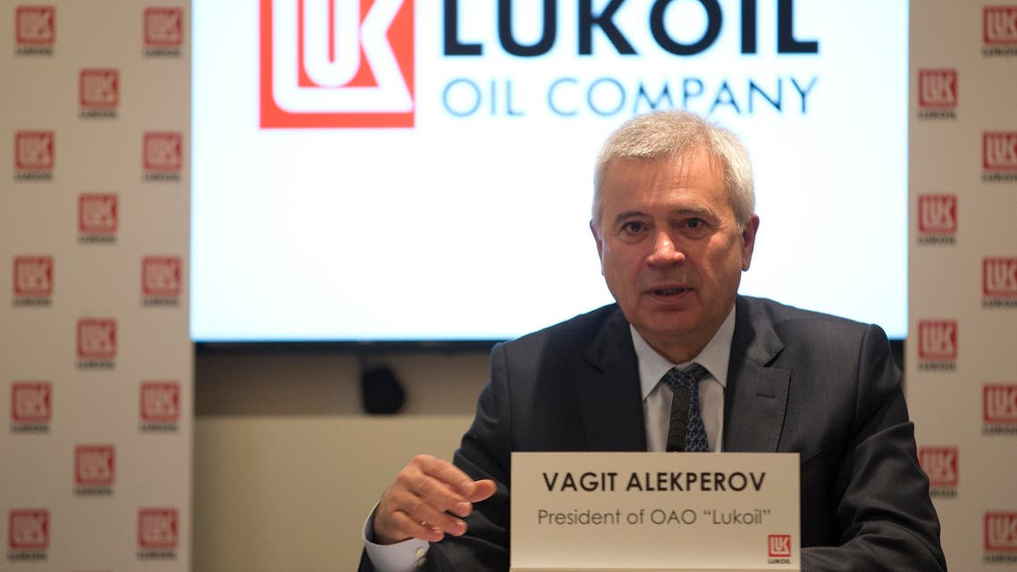 Vagit Alekperov, CEO, of the Russian oil and gas company Lukoil speaking at a press conference for the companies annual results, in London, Thursday, March, 7, 2013. (AP Photo/Alastair Grant)