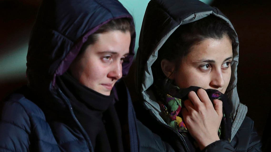 Greta Ramelli (L) and Vanessa Marzullo, two Italian aid workers taken hostage in Syria REUTERS