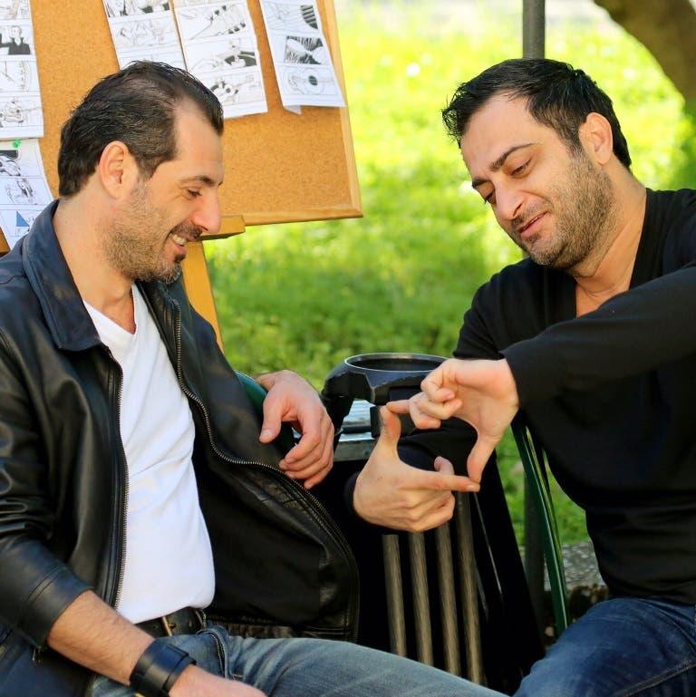 المخرج ناصر فقيه والممثل عادل كرم