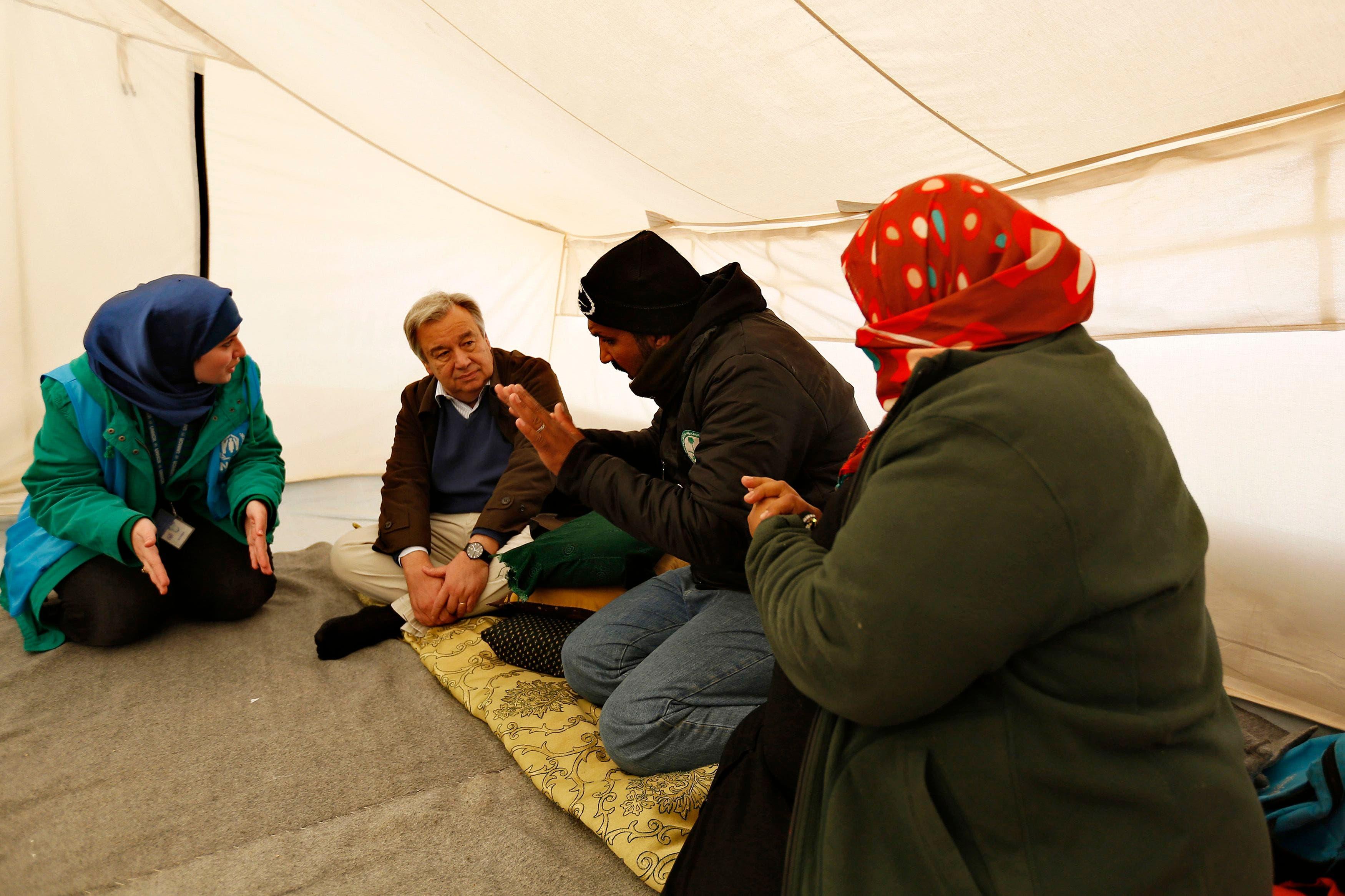 UNHCR head visits Syrian refugee families in Jordan