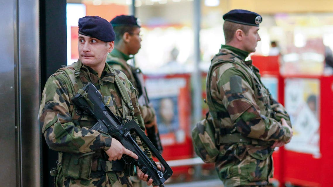 French soldiers patrol the Part-Dieu railway station in Lyon as part of a security plan after last week's Islamic militant attacks, January 16, 2015. (Reuters)