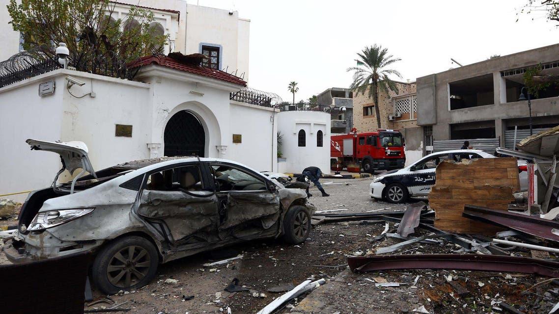 Libya Algerian embassy AFP