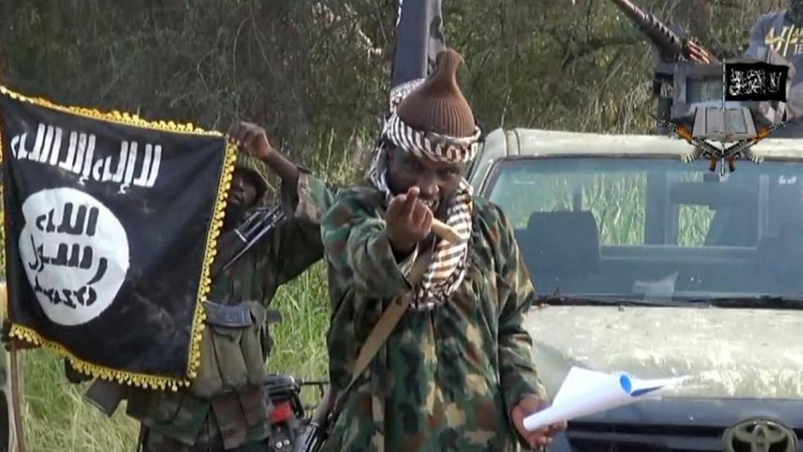 Screengrab taken on October 2, 2014 from a video released by the Nigerian Islamist extremist group Boko Haram and obtained by AFP shows the leader of the Nigerian Islamist extremist group Abubakar Shekau (AFP Photo/)