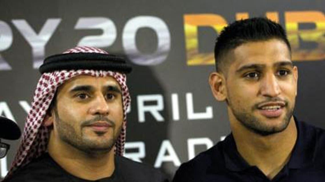 amir khan and Eisa Aldah 7days boxers boxing UAE dubai