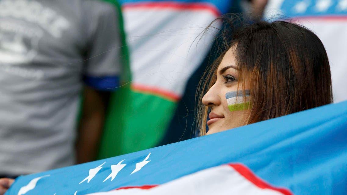 أوزبكية سعيدة بالفوز