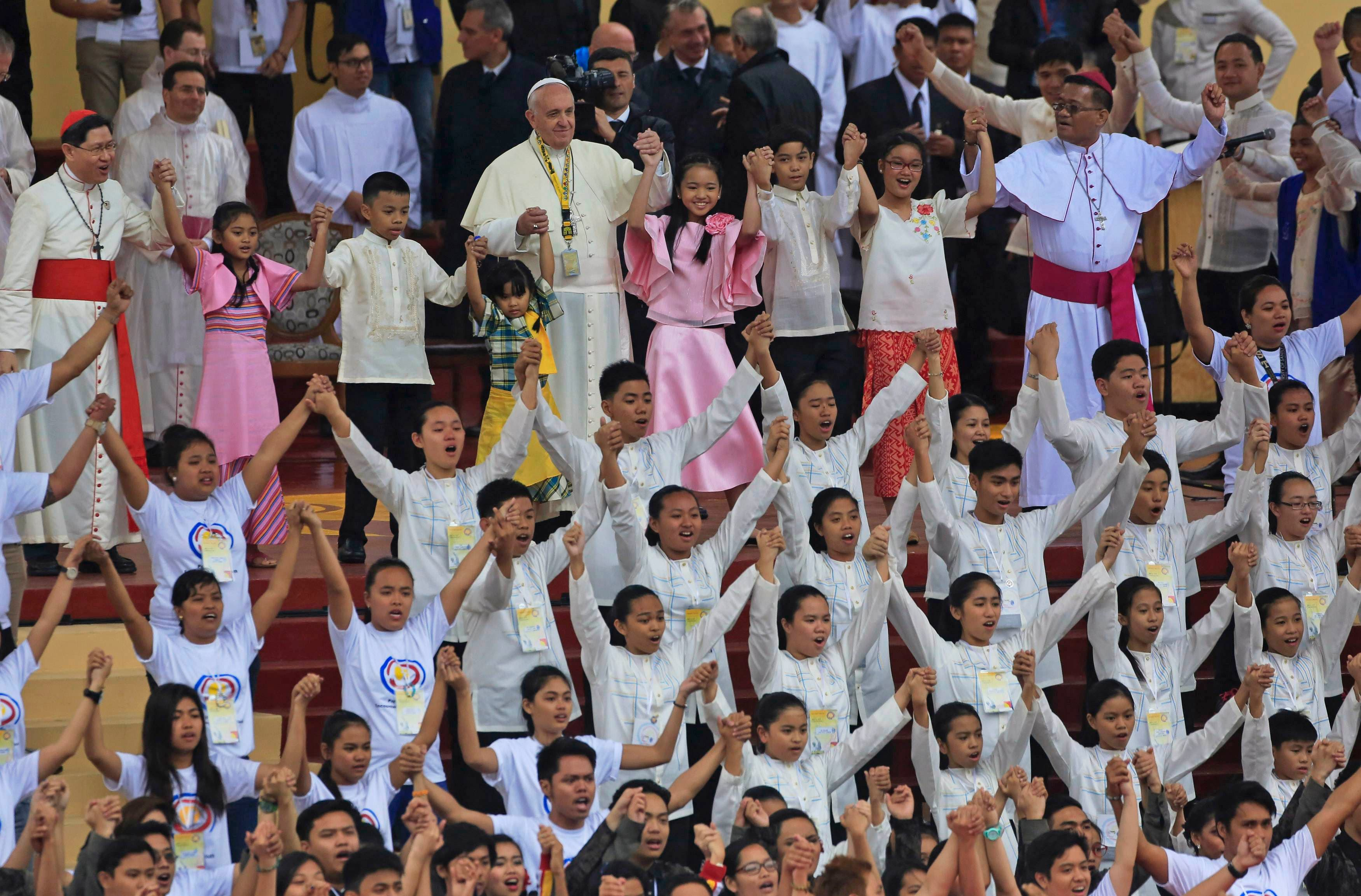 Pope Francis welcomed in Manila
