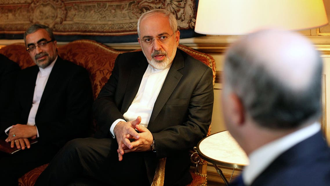 Iranian Foreign Minister Mohammad Javad Zarif talks with his French counterpart Laurent Fabius, during a meeting at the Quai d'Orsay, in Paris, Friday, Jan. 16, 2015. (File photo: AP)
