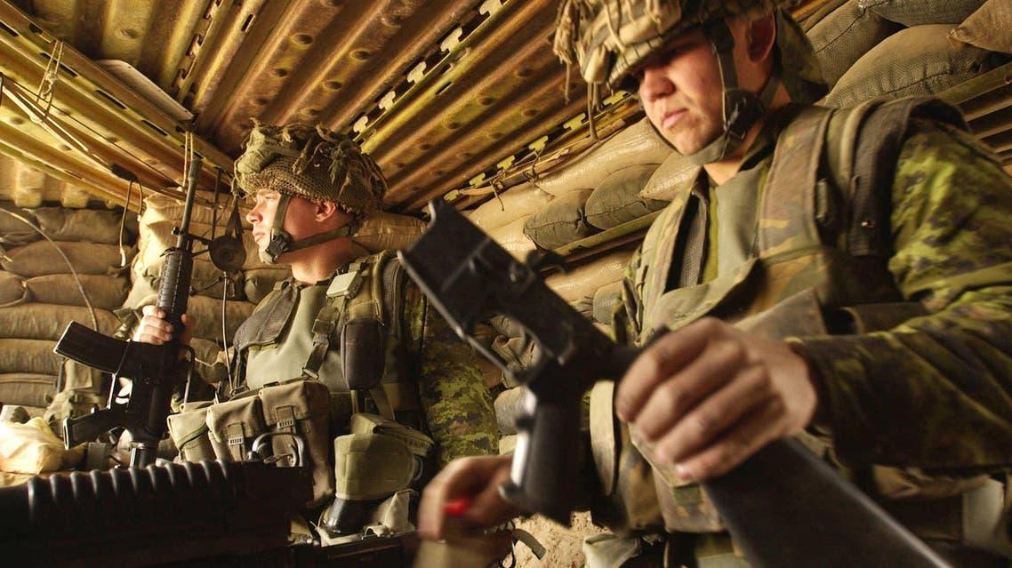 Canadian troops File AP