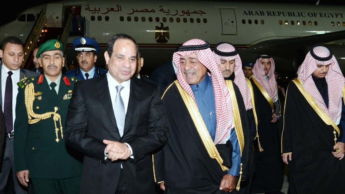 Sisi in Saudi Arabia SPA