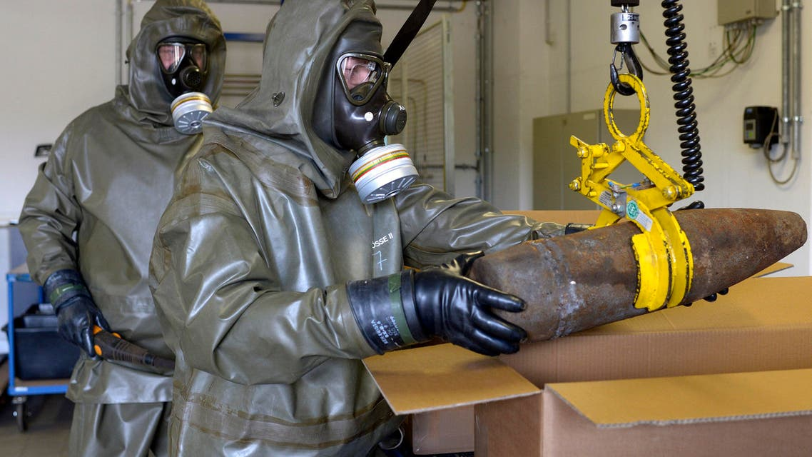 Dummy chemical weapons Munster Reuters