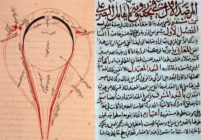 ابن هیثم نخستین کسی بود که چشم را تشریح و وظیفه اجزای آن را مشخص کرد