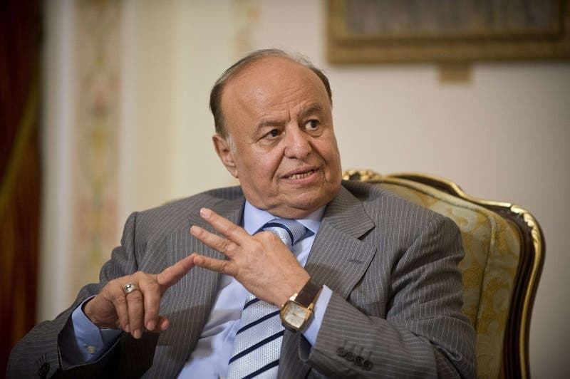 A file picture taken on April 2, 2013 shows Yemeni President Abdrabuh Mansur Hadi. (AFP)