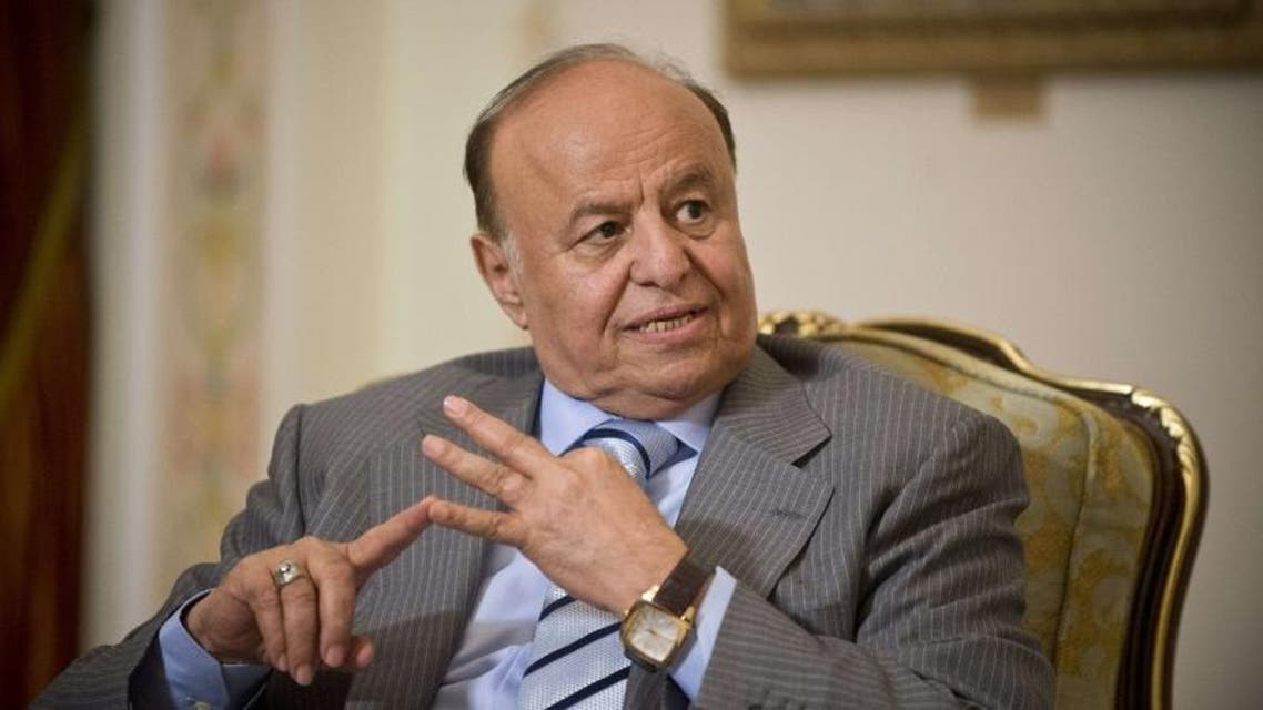 A file picture taken on April 2, 2013 shows Yemeni President Abdrabuh Mansur Hadi. (AFP)