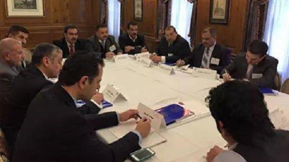 صورة لأول اجتماع بين وفد الأنبار والجانب الأمريكي