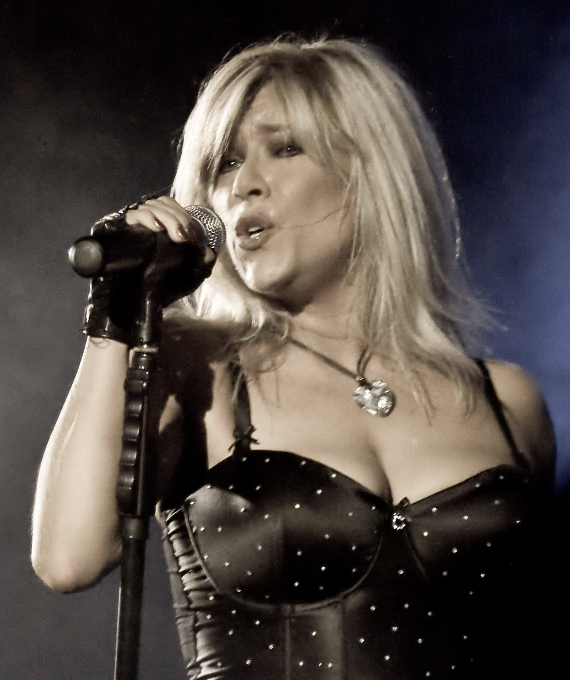 Samantha Fox, pictured here in 2009, first appeared topless in The Sun when she was aged just 16. (Photo courtesy: Wikipedia)