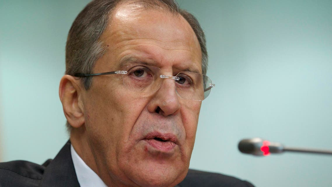 Russia's Foreign Minister Sergey Lavrov speaks at an annual news conference on Russia's foreign policy issues in the Foreign Ministry headquarters in Moscow Wednesday, Jan. 21, 2014. (AP)