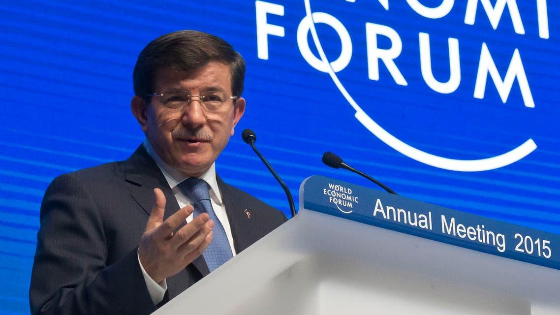 Ahmet Davutoglu Turkey AP Davos