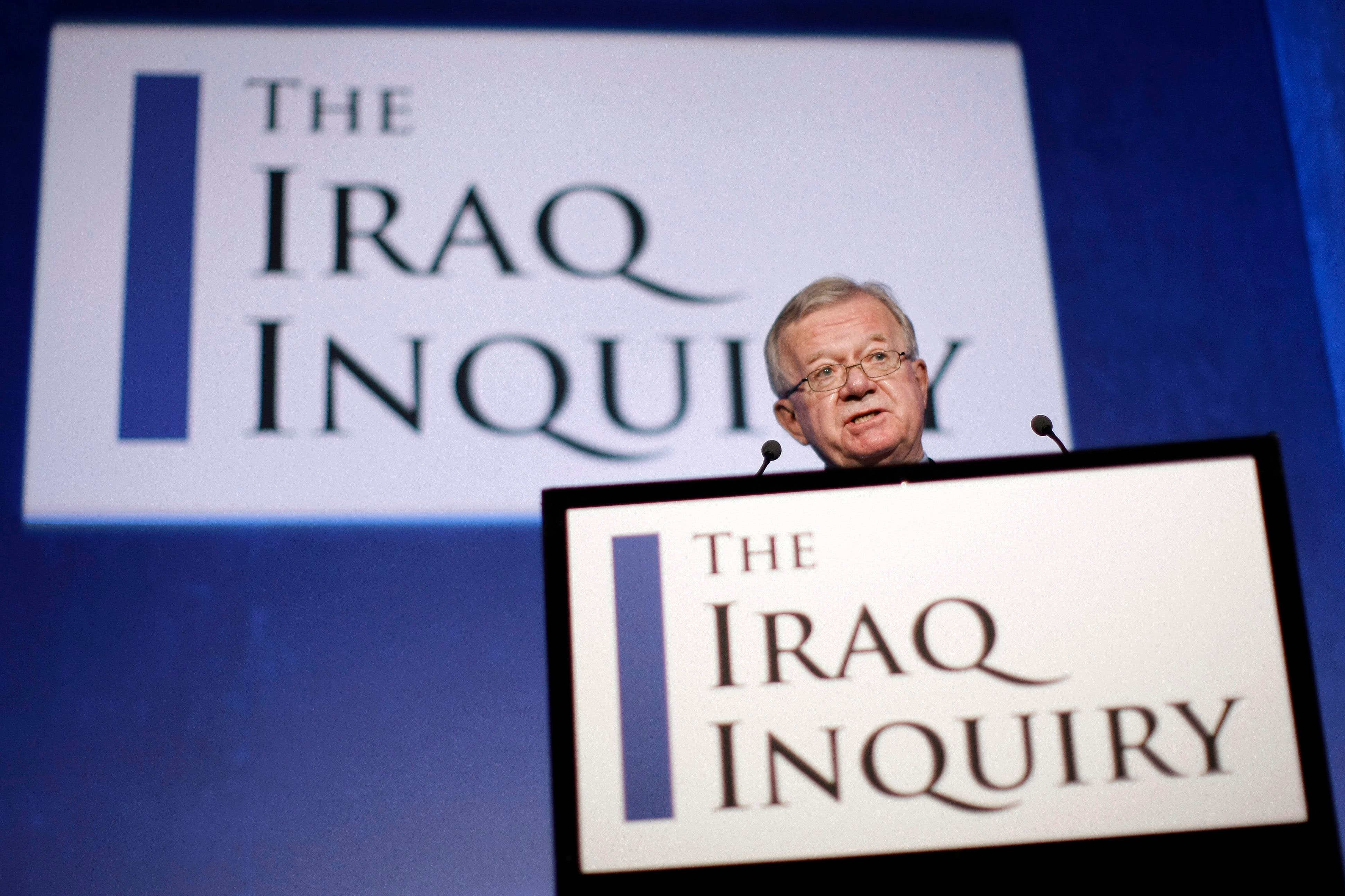 John Chilcot, the Chairman of the Iraq Inquiry. (AFP Photo)