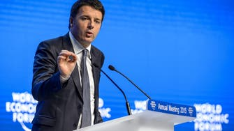 Italy PM at Davos calls for tackling risks 'head-on'