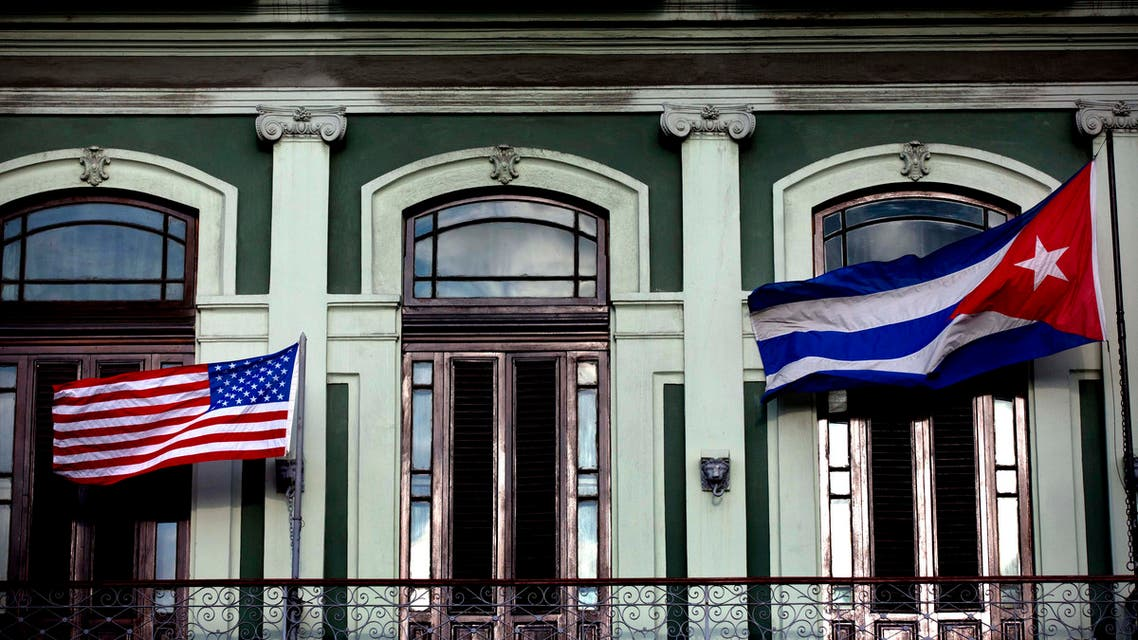 Cuba United States flags AP