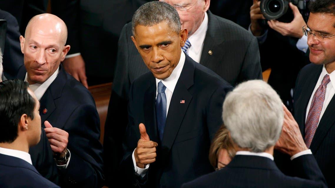 أوباما في خطاب الاتحاد 2015