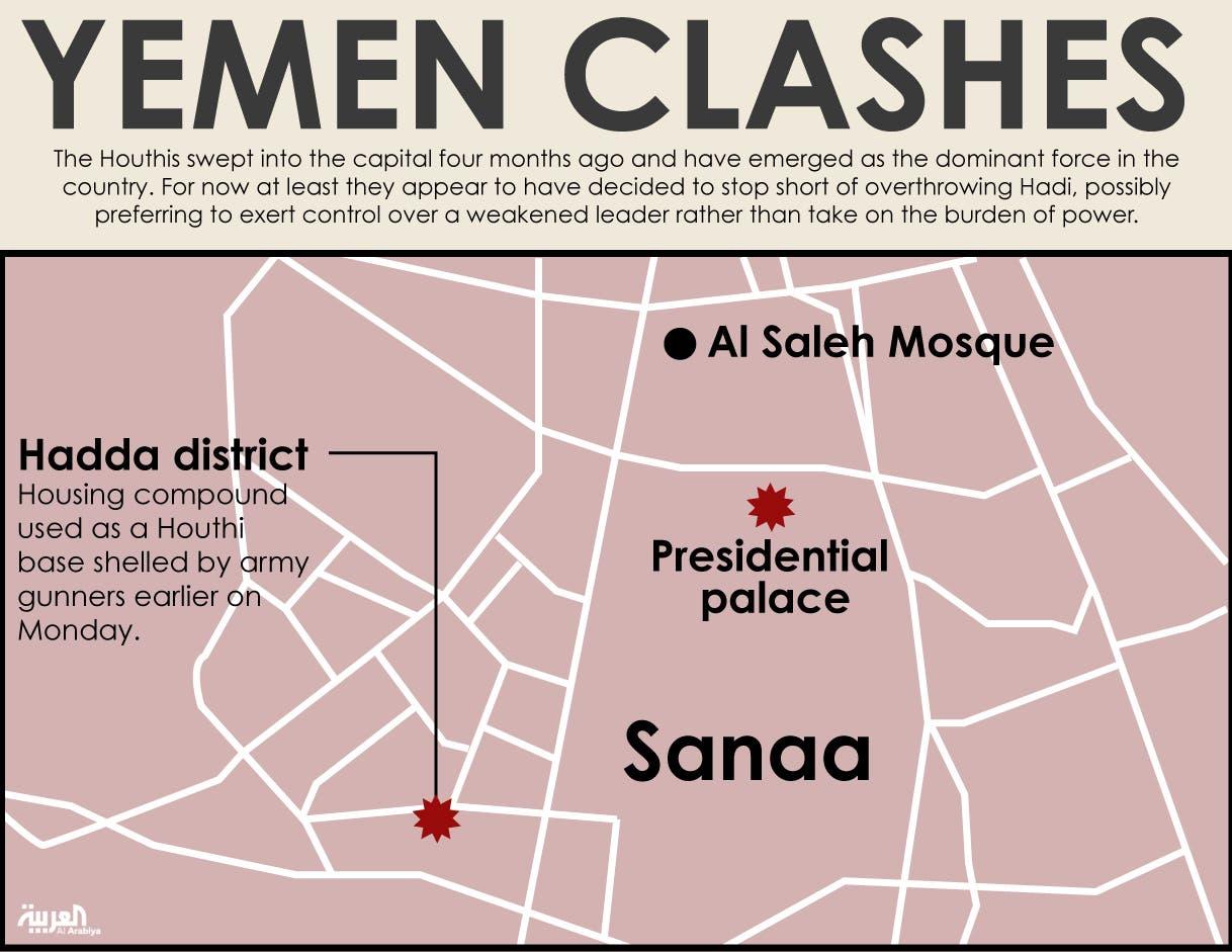 Infographic: Yemen clashes