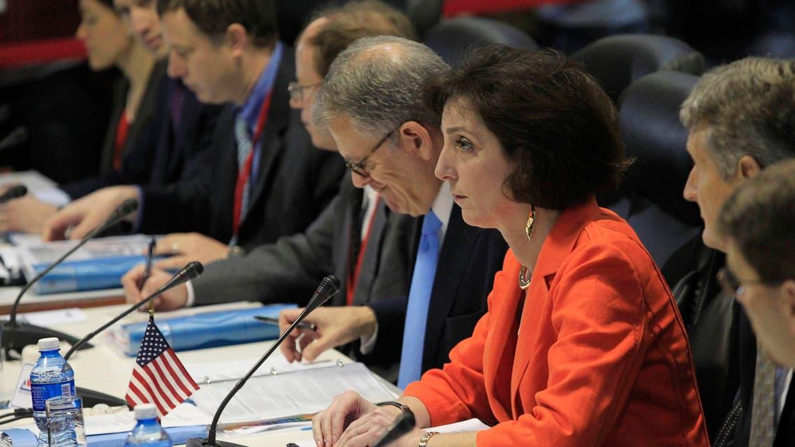 U.S. Assistant Secretary for Western Hemisphere Affairs Roberta Jacobson (orange jacket) attends negotiations to restore diplomatic ties with Cuba in Havana January 22, 2015. (Reuters)