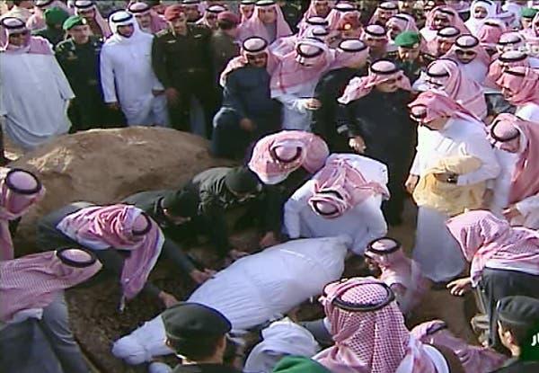 دفن الملك عبدالله