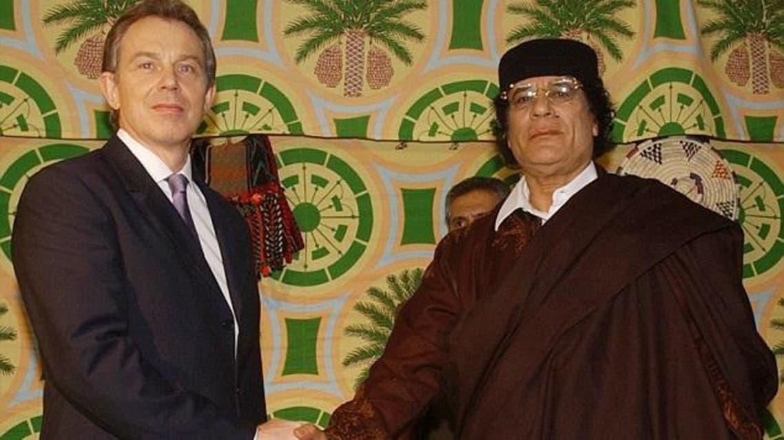القذافي و بلير