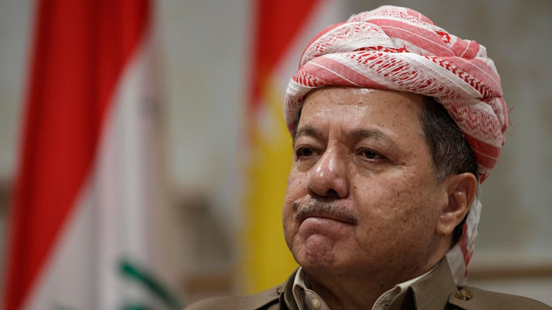 Kurdish president Massoud Barzani reacts during an interview with the Associated Press in Salah al-Din resort, Irbil north of Baghdad, Iraq, Wednesday, April 25, 2012. (File photo: AP)