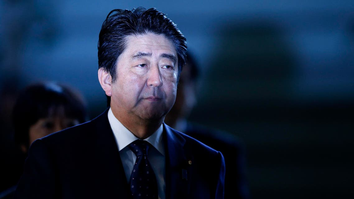Japan's Prime Minister Shinzo Abe arrives at his official residence in Tokyo January 23, 2015. (Reuters)