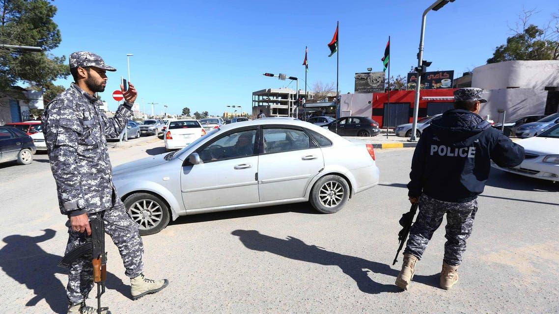 Libya police Tripoli AFP