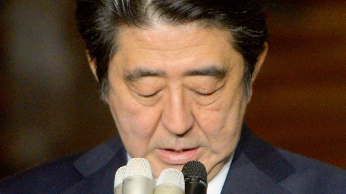 Japan's Prime Minister Shinzo Abe speaks to the media at his official residence in Tokyo in this January 25, 2015. (Reuters)