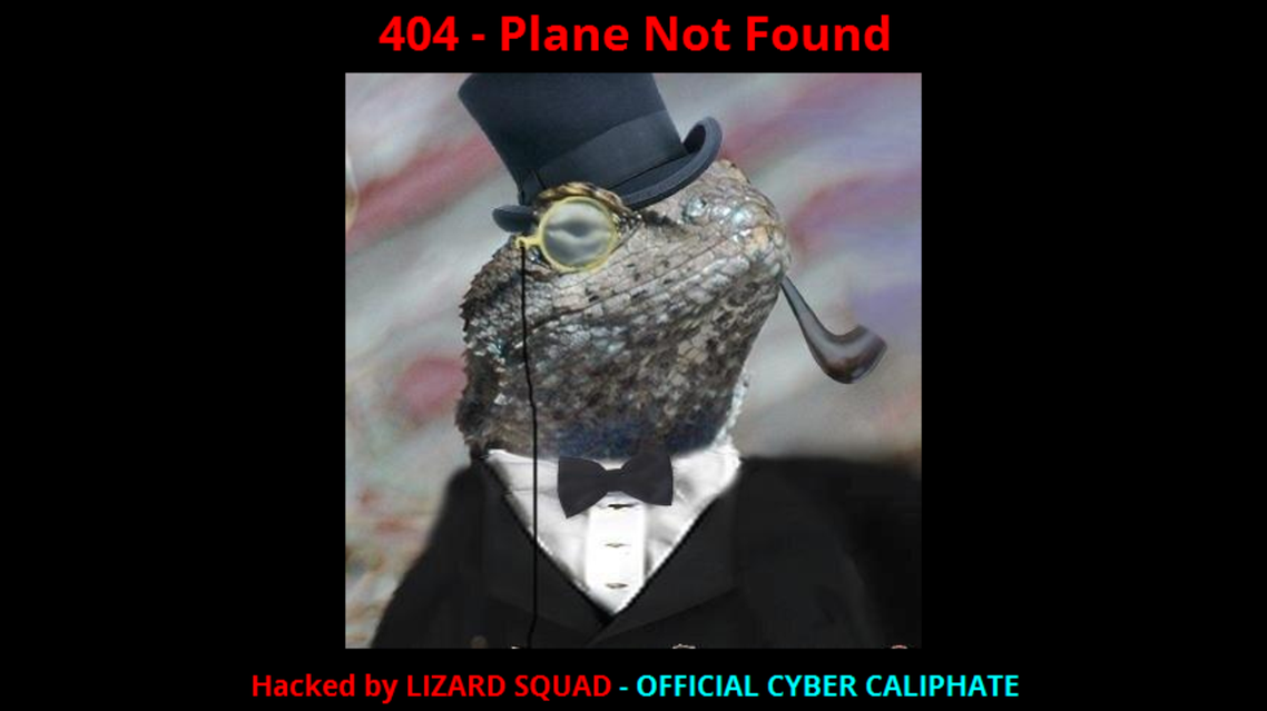 lizard squad screen shot malaysia airlines