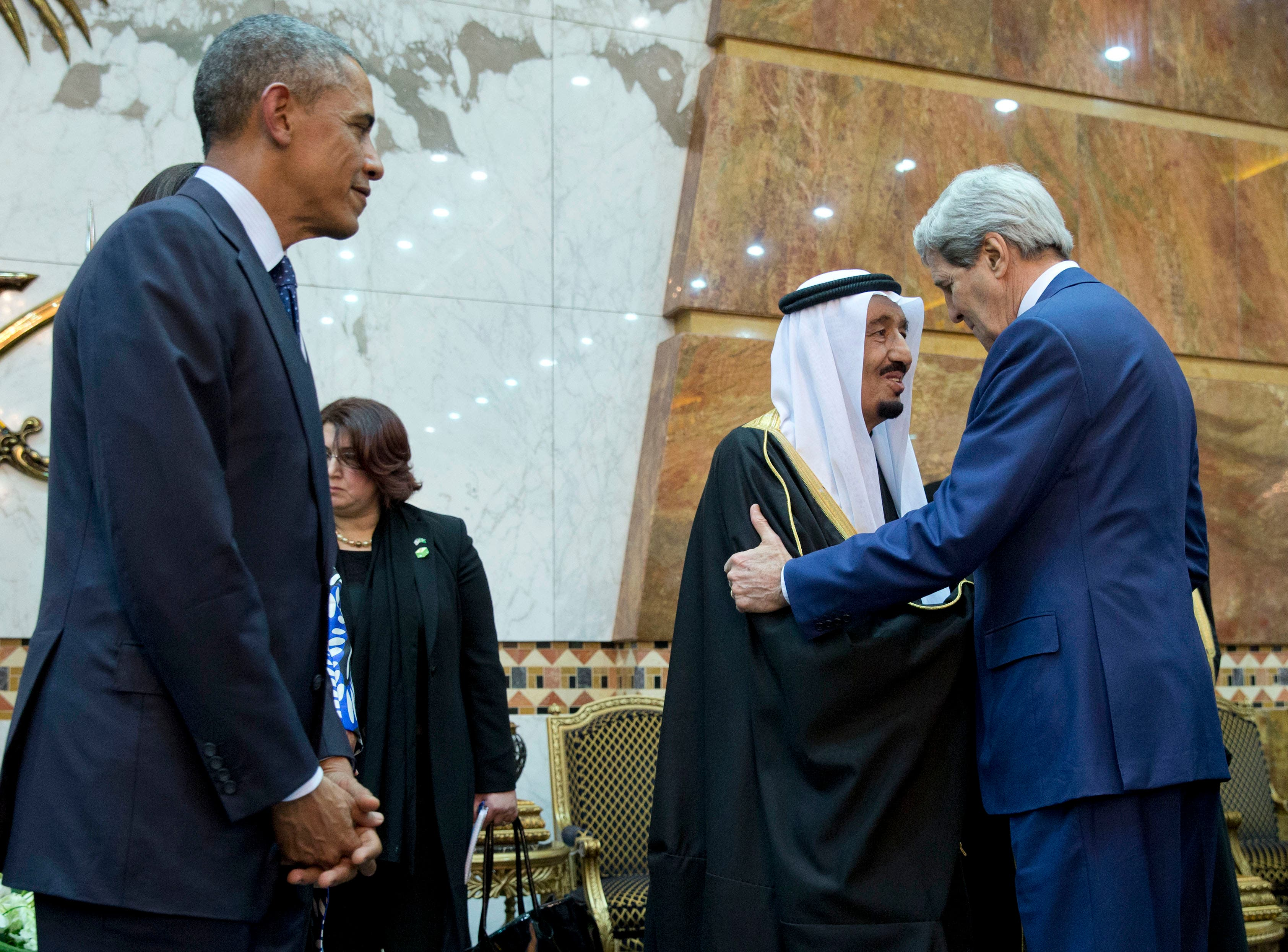 Kerry Obama King Salman AP