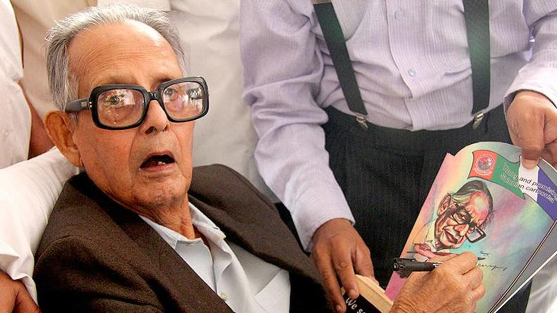 R.K. Laxman, the renowned Indian cartoonist whose sketches appeared on the front page of The Times of India