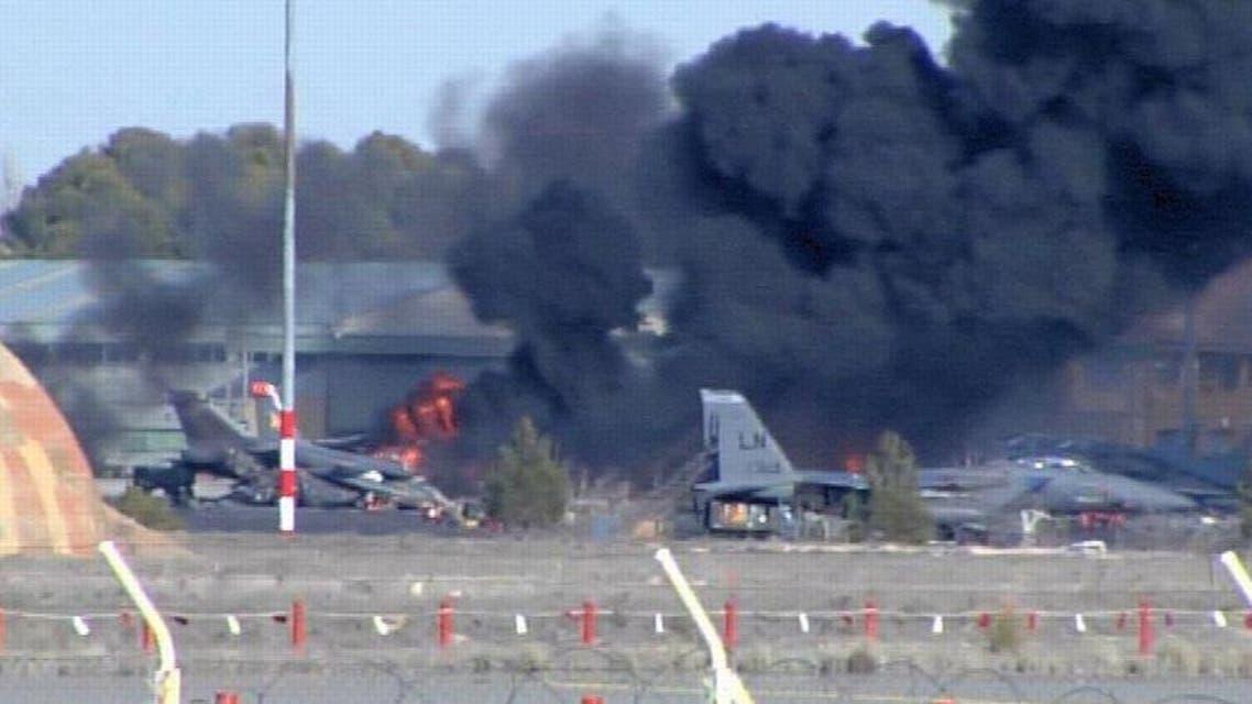 سقوط طائرة عسكرية يونانية في اسبانيا ومقتل 8 فرنسيين