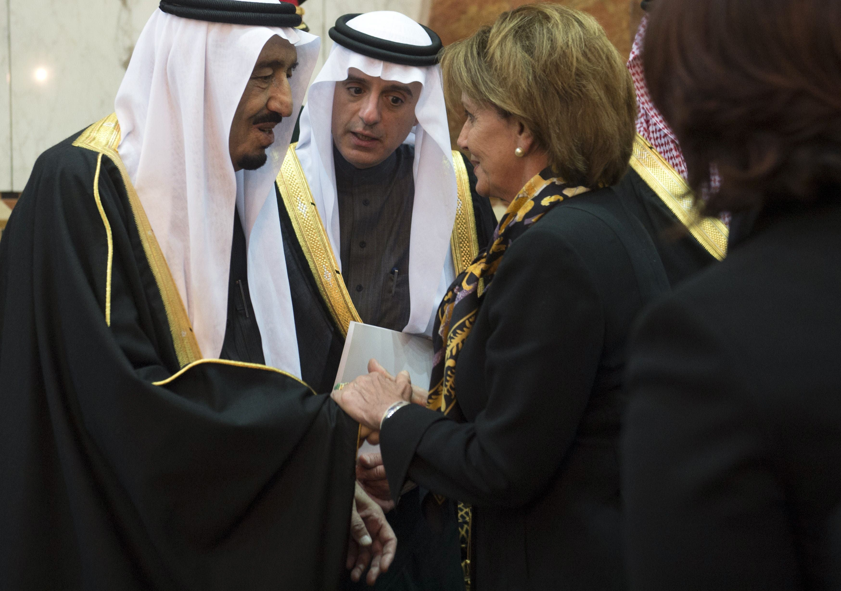 Nancy Palosi King Salman AFP