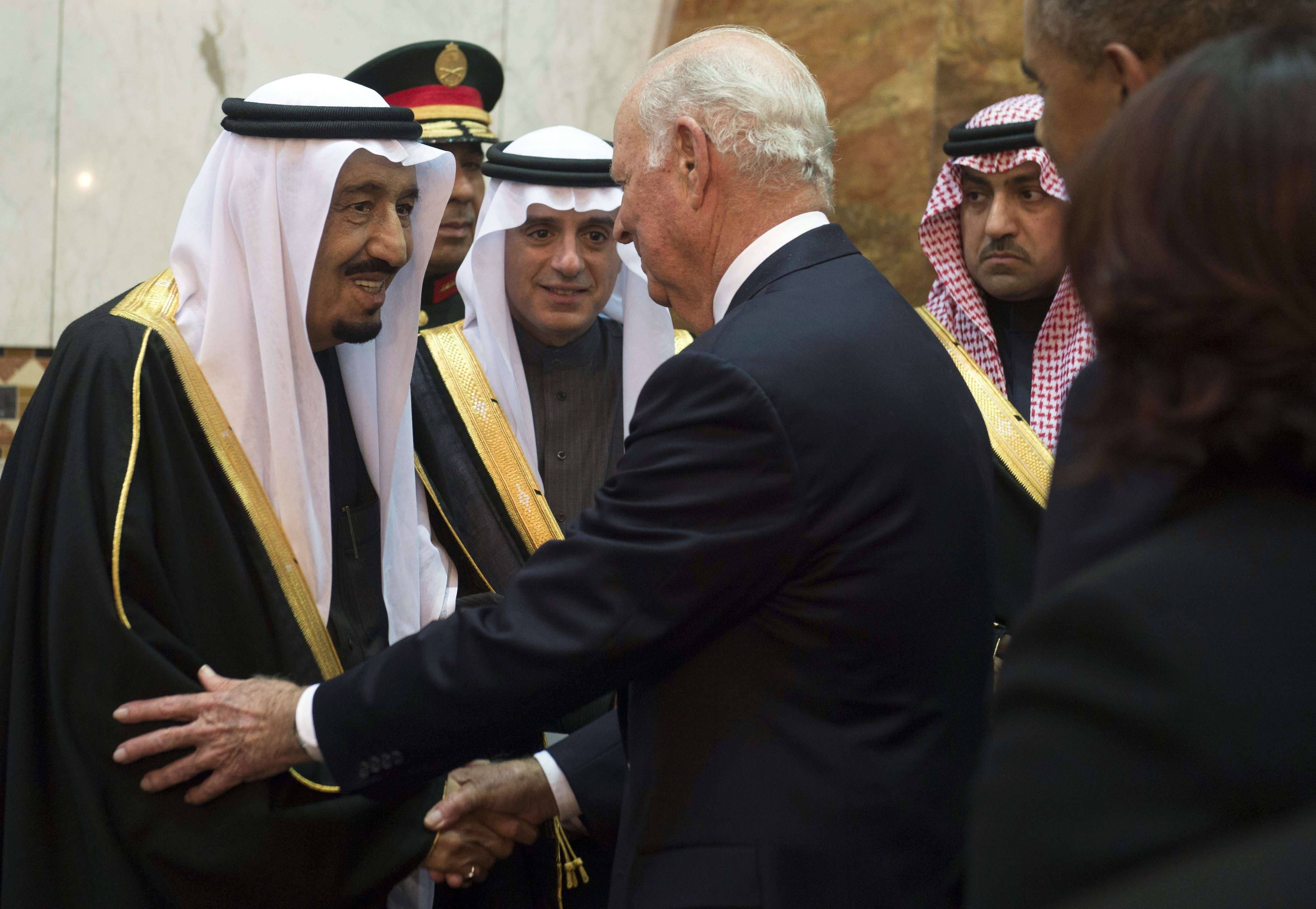James Baker King Salman AFP