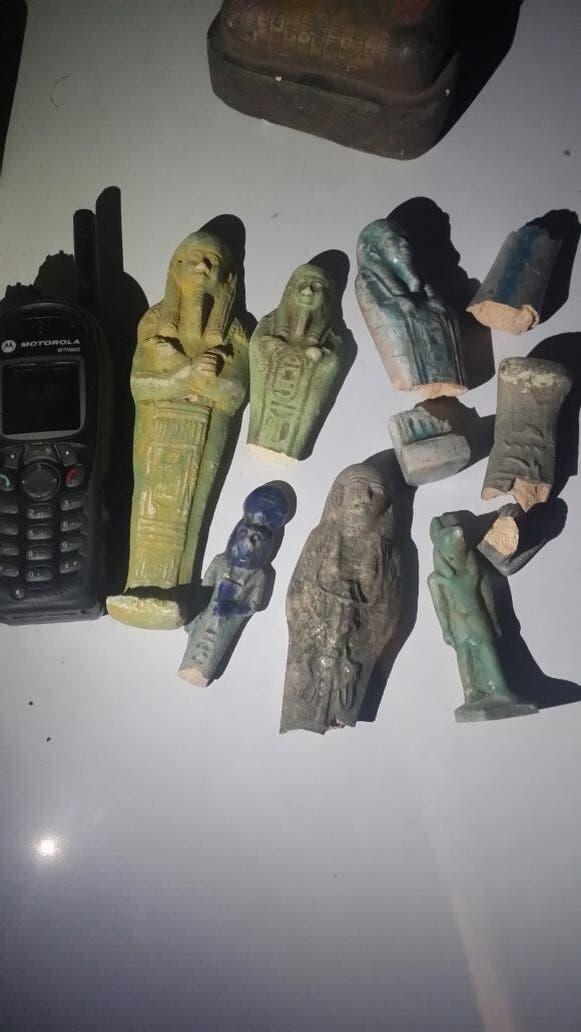 """آثار مصرية مهربة """"أرشيفية"""""""