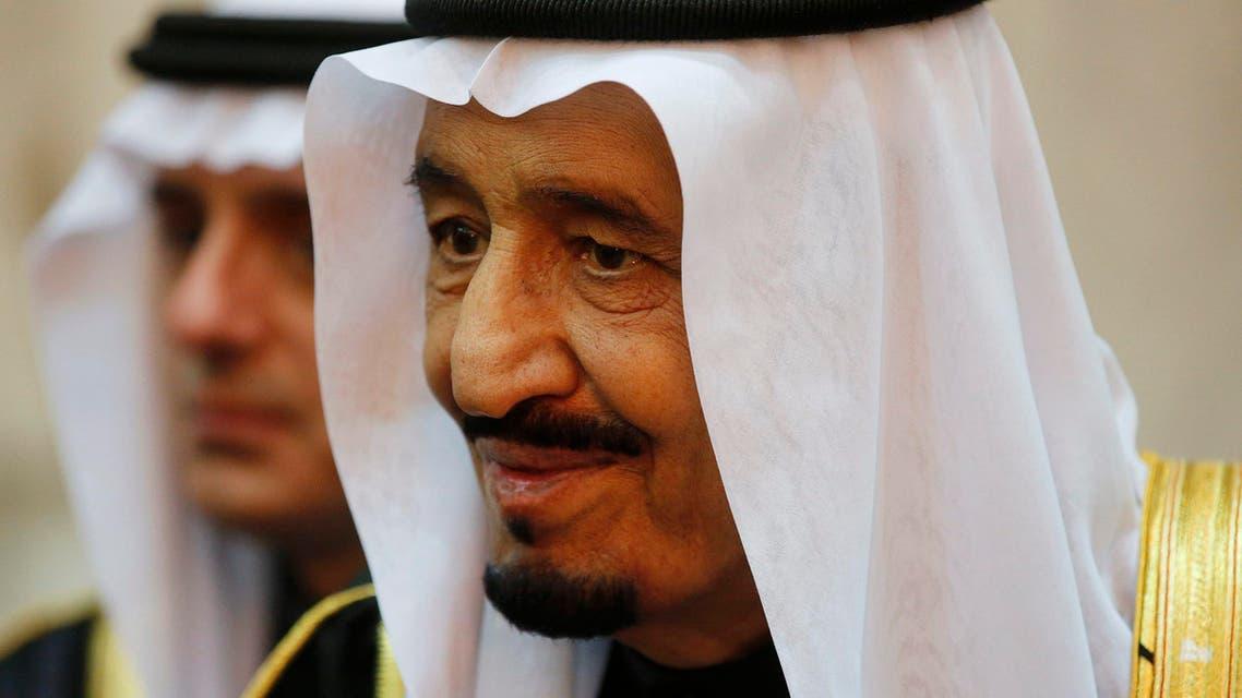 Saudi Arabia's King Salman is seen during U.S. President Barack Obama's visit to Erga Palace in Riyadh Jan. 27, 2015.  (Reuters)