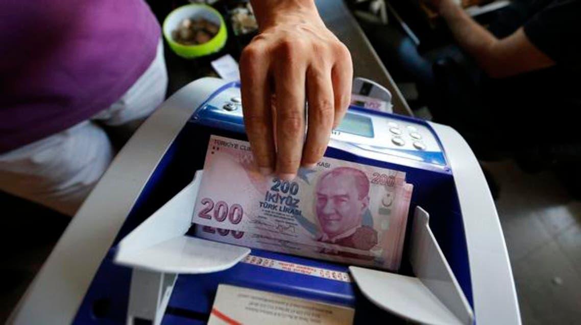Turkish lira money currency AFP