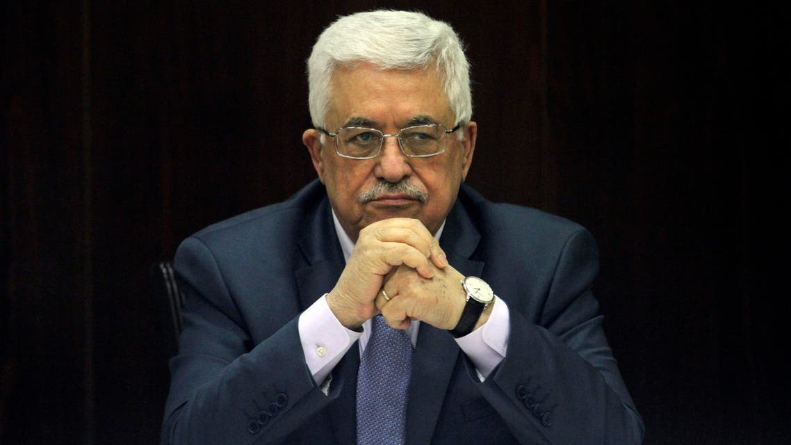 This July 28, 2013 file photo shows Palestinian President Mahmoud Abbas chair a session of the Palestinian cabinet in the West Bank city of Ramallah. AP