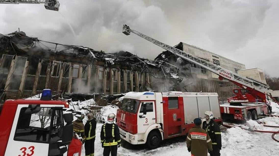حريق مكتبة