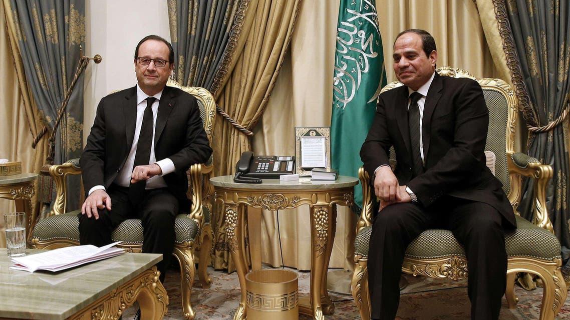 Francois Hollande Abdel Fattah al-Sisi AFP