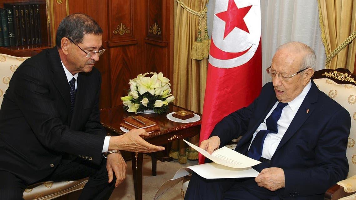 Tunisian Prime Minister Habib Essid Tunisian President Beji Caid Essebsi AP