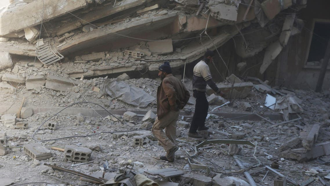 Syria airstrikes hit Douma