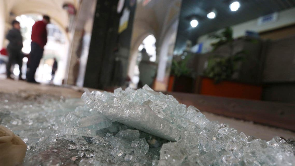 Debris from a damaged shop is seen after a blast in central Cairo February 3, 2015. A man was killed in a bomb blast in Egypt's second city of Alexandria on Tuesday. (Reuters)