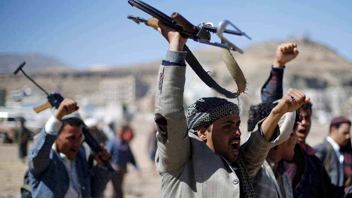 Houthi fighters protest in Sanaa, Yemen. (File Photo: Reuters)