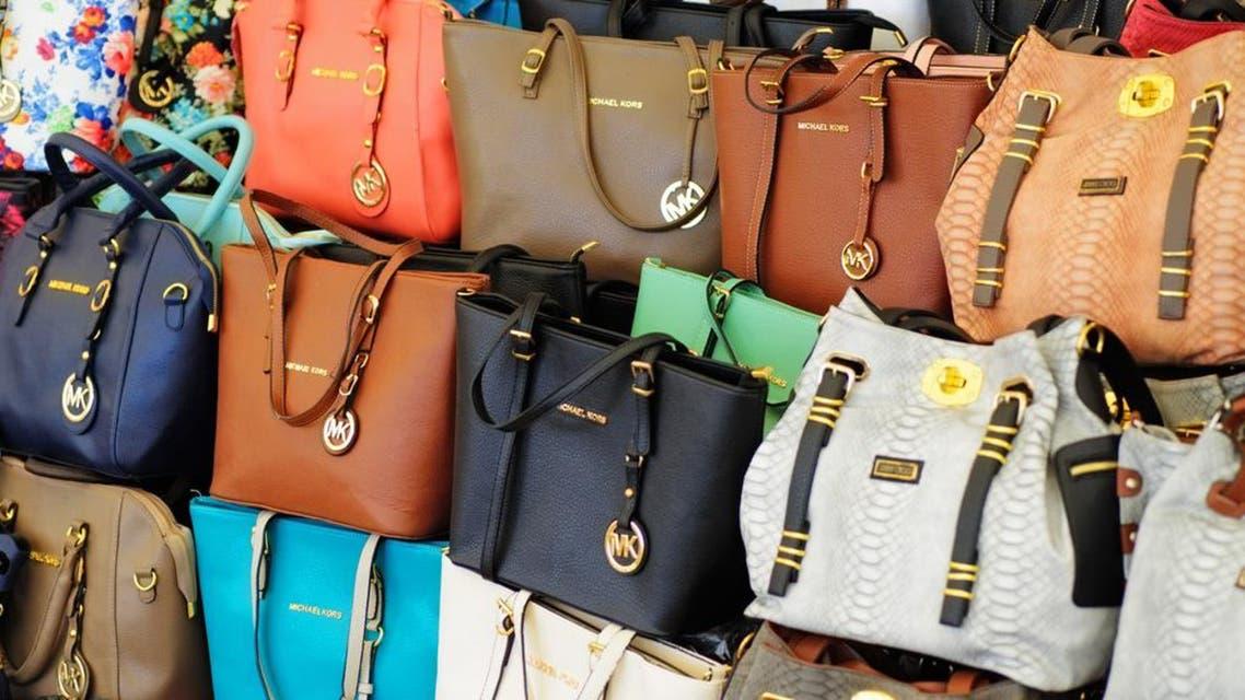 Counterfeit handbags seen at a Turkish market. (Shutterstock)